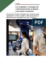 Coronavirus en Argentina analisis actual