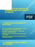 Suggested Activities to Learners With Difficulty in Seeing.pptx
