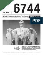 Publication 6744, Volunteer Assistor's Test/Retest