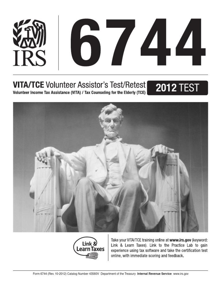Publication 6744 Volunteer Assistors Testretest Internal