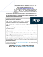 Prórroga de VRD Región Metropolitana