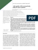 Factores asociados al cuidado en cuidadores de paciente de cancer terminal