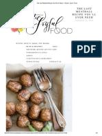 The Last Meatball Recipe You'll Ever Need — Rustic. Joyful. Food.