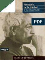Pedagogía de la libertad - Jiddu Krishnamurti -