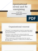 Organisational renewal and re energizing