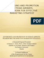 ADVERTISING AND PROMOTION OF ETIHAD AIRWAYS