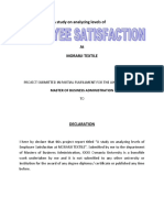 A study on analyzing level of employ satisfaction at HALCYON TECH..doc