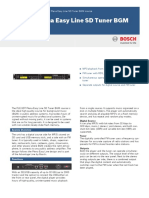 BOSCH Public address data sheet.