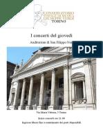 Programma concerti S.Filippo