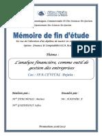 L'analyse financière, comme outil de gestion des entreprises (1)