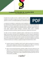 Conferencia Mundial de la Juventud, Grupo Salud