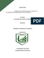 ENSAYO LUIS SOLANO EL FARMACEUTICO EN URGENCIAS