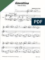 """""""Gavottina""""  Nadine De la croix (flûte et piano)"""
