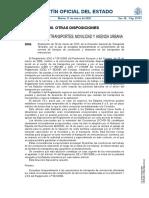 Resolución de 16 de Marzo de 2020 de  la Dirección General de Transporte Terrestre