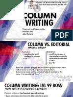 column writing pdf