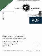 NASA Small Spacecraft Design Manual