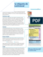 lectura de etiqueta de información nutricional