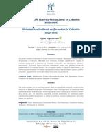 Conformación histórico-institucional en Colombia (1800-1950)