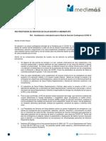 Socializacion Ruta COVID -19 Medimás EPS