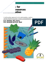 Guidebook for Genetic Resources Documentation