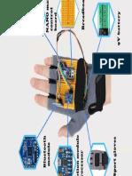 Luva controle Arduino remoto
