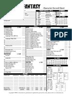 BRP - Classic Fantasy Character Sheet