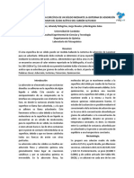DETERMINACIÓN DEL ÁREA ESPECÍFICA DE UN SÓLIDO MEDIANTE LA ISOTERMA DE ADSORCIÓN DE LAGMUIR DEL ÁCIDO ACÉTICO DEL CARBÓN ACTIVADO