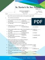ICSE Class 5 Annual Exam Model Question Paper 1- SOCIAL STUDIES