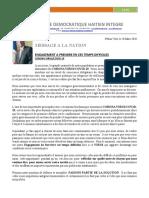 ENGAGEMENT A PRENDREEN CES TEMPS DIFFICILES-CORONA VIRUS/COVID 19 Le 28 Mars 2020