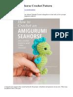 Amigurumi Seahorse