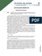 Instrucción de 19 de Marzo de 2020, del Ministerio de Sanidad