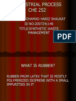 synthetic rubber waste management shaukat