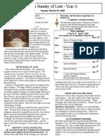 Bulletin - March 29, 2020