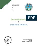Entrevista Informativa y Entrevista de Semblanza