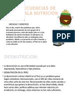 CONSECUENCIAS DE UNA MALA NUTRICION