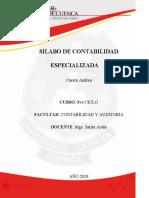 SILABO DE CONTABILIDAD ESPECIALIZADA