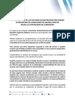 Comunicado Adeera - Morosidad (28.3.2020)