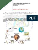 Caracteristicas Gerais dos Seres Vivos - I Unidade -  Biologia