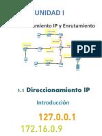 Unidad 1 - Direccionamiento IP y Enrutamiento