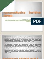 hermenêutica jurídica - aula 1