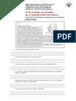 Guía de trabajo en el hogar - 5to básico 2020 - Lenguaje y Comunicación - Génesis Henríquez  PDF