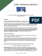 ISO 9001, efficacité ou efficience