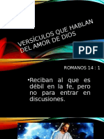 Versículos que hablan del amor