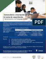 Afiche de invitacion curso de Aproximación a la Pedagogía Activa final.pptx