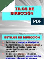 Tema ESTILOS DIRECCION.ppt