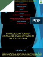 Cambio de nombre de usuario y contraseña de administrador de un router