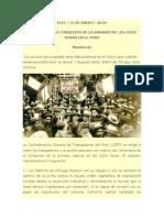 1919 - 2019_CIEN AÑOS DE LA CONQUISTA DE LA JORNADA DE LAS OCHO HORAS EN EL PERU