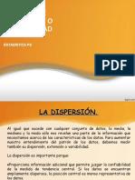 Medidas de dispersión SERIES NO AGRUPADAS