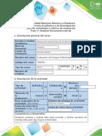 Guia de actividades y rúbrica de evaluación - Paso 4 - Realizar Documento parcial