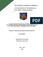 Valoracion Economica Por Retribucion Contingente de La Parte Baja Del Rio Huaycoloro
